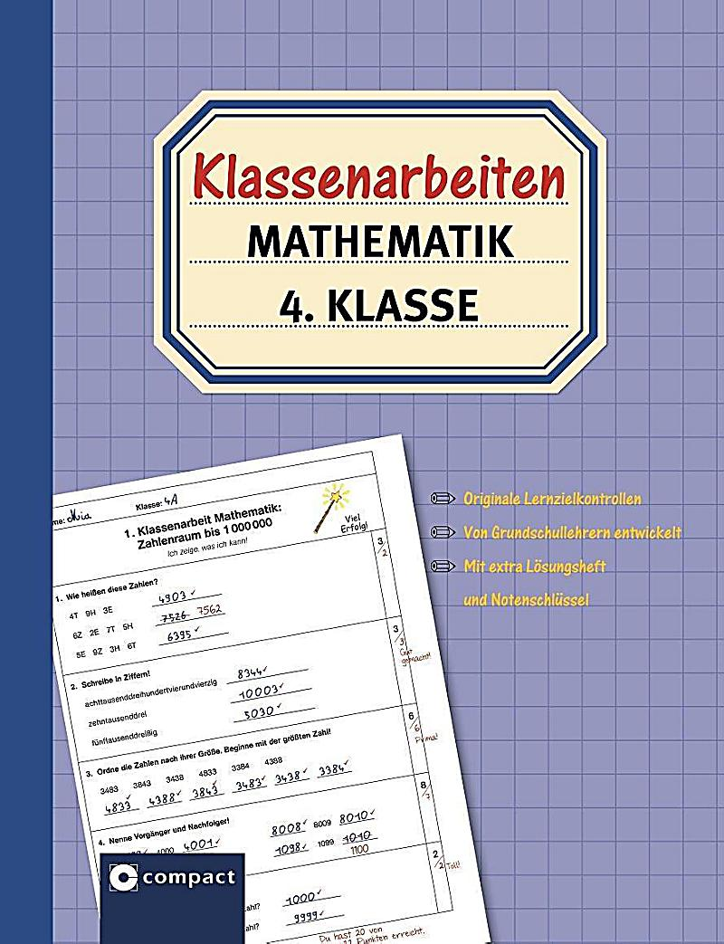 klassenarbeiten mathematik 4 klasse buch portofrei
