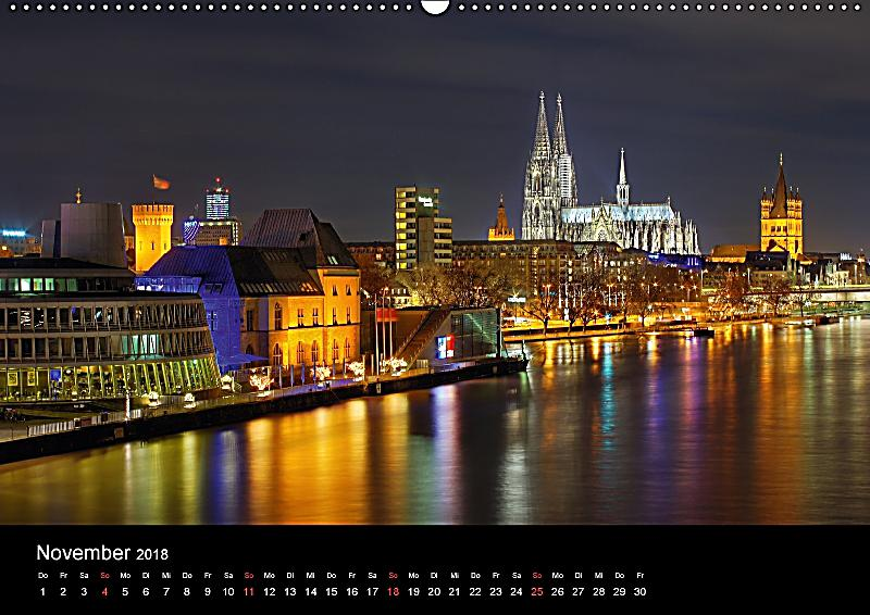 k ln dunkel bunt die stadt in anderem licht wandkalender 2018 din a2 quer kalender bestellen. Black Bedroom Furniture Sets. Home Design Ideas