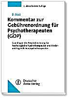 kommentar zur geb hrenordnung f r psychotherapeuten gop buch. Black Bedroom Furniture Sets. Home Design Ideas