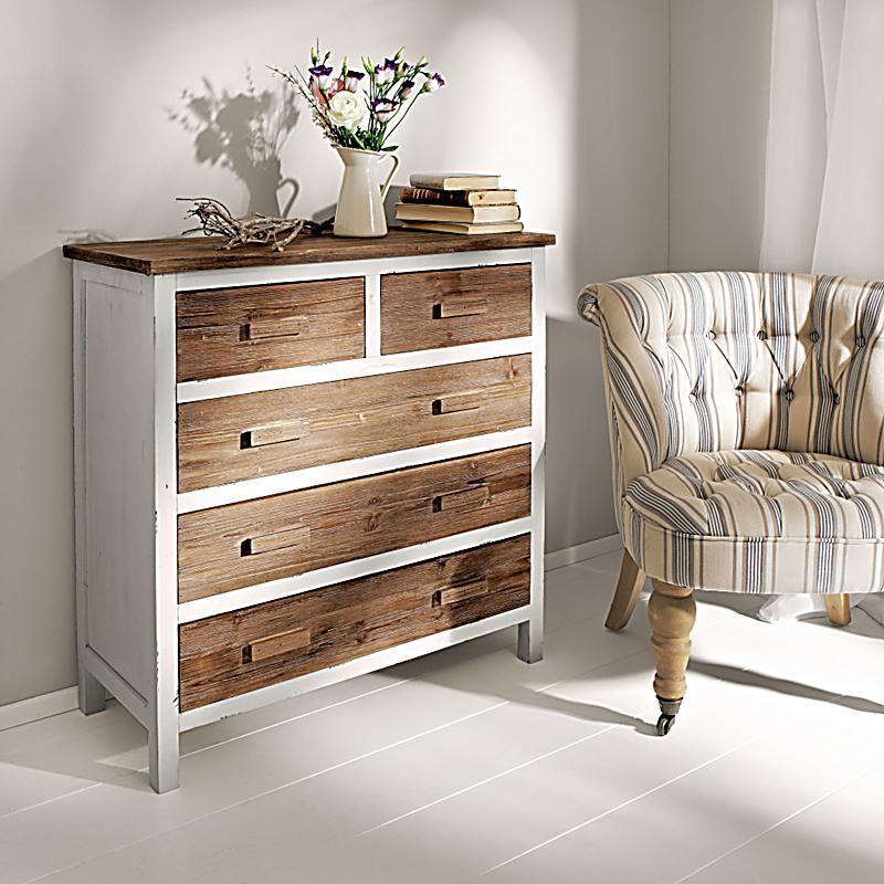 kommode atlanta breit wei braun jetzt bei bestellen. Black Bedroom Furniture Sets. Home Design Ideas