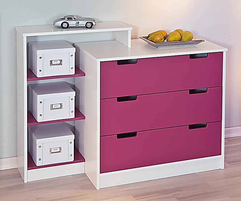 kommode johanna kidz line farbe magenta. Black Bedroom Furniture Sets. Home Design Ideas