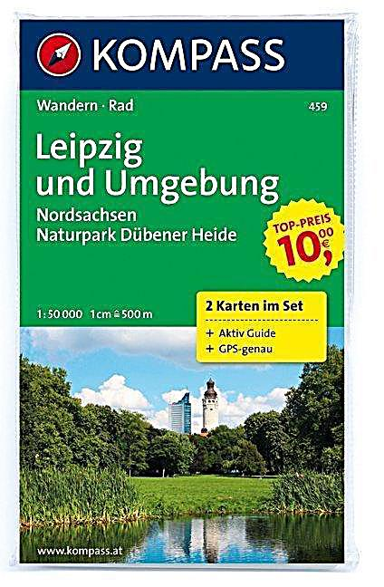 kompass karte leipzig und umgebung nordsachsen naturpark d bener heide 2 bl. Black Bedroom Furniture Sets. Home Design Ideas
