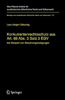 konkurrentenrechtsschutz aus art 88 abs 3 satz 3 egv buch. Black Bedroom Furniture Sets. Home Design Ideas
