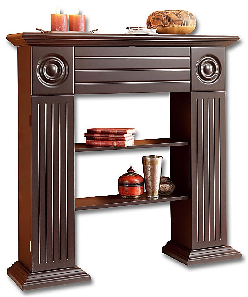konsolenregal kamin farbe braun jetzt bei bestellen. Black Bedroom Furniture Sets. Home Design Ideas