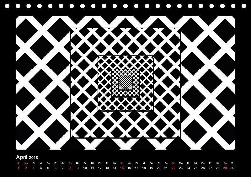 kontrastreiche schwarz weisse bilder tischkalender 2018. Black Bedroom Furniture Sets. Home Design Ideas