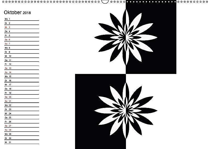 kontrastreiche schwarz weisse bilder wandkalender 2018 din. Black Bedroom Furniture Sets. Home Design Ideas