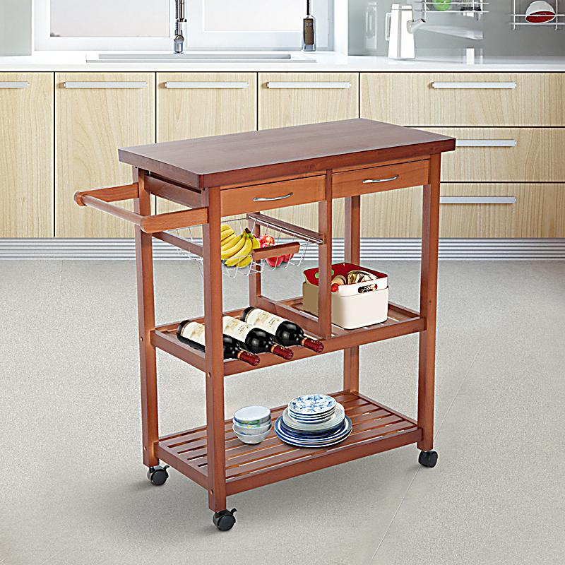 Küchenwagen mit Schubladen Farbe: naturfarben, Größe: 81 x 38 x 85,5 ...