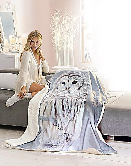kuscheldecke eule jetzt bei bestellen. Black Bedroom Furniture Sets. Home Design Ideas