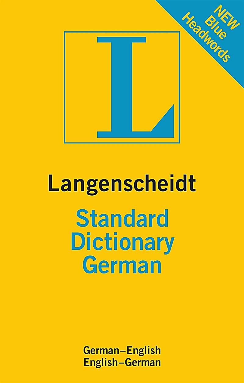 langenscheidt standard dictionary german buch portofrei. Black Bedroom Furniture Sets. Home Design Ideas