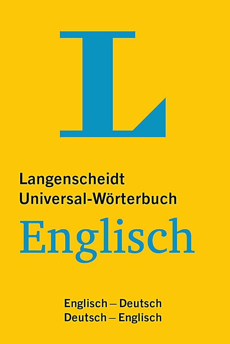 Langenscheidt universal w rterbuch englisch buch for Englisch deutsch ubersetzung