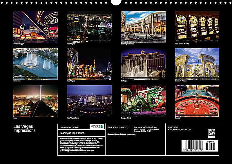 Calendar Las Vegas May : Las vegas impressions wall calendar din a landscape