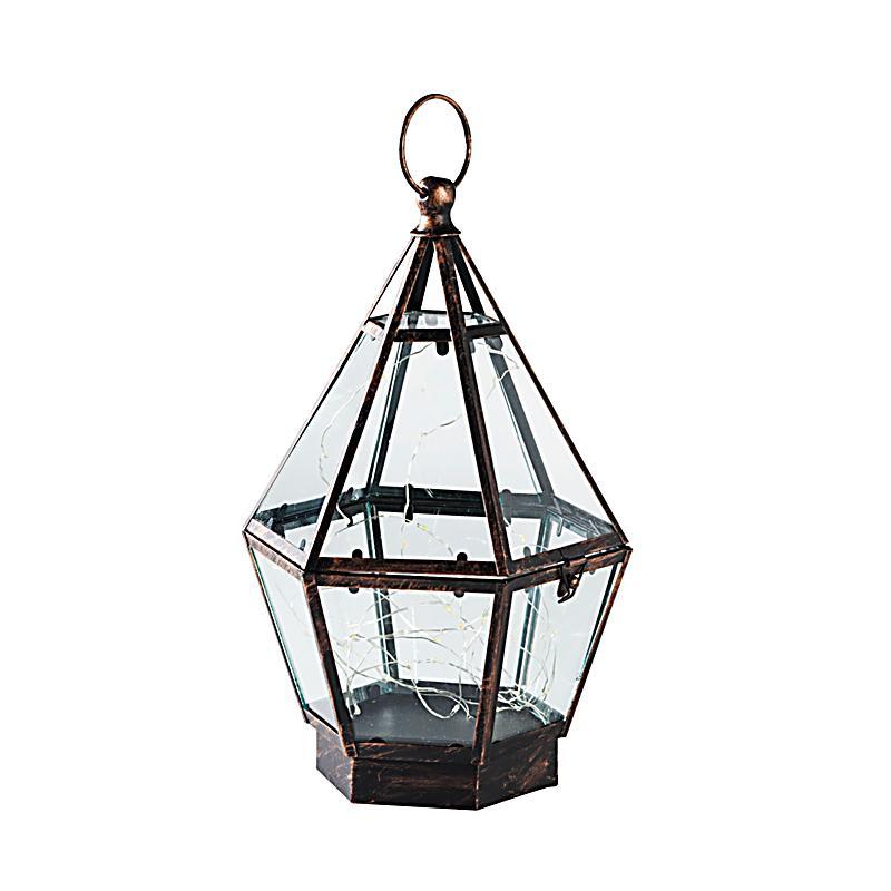 laterne rhomba mit lichterkette jetzt bei bestellen. Black Bedroom Furniture Sets. Home Design Ideas
