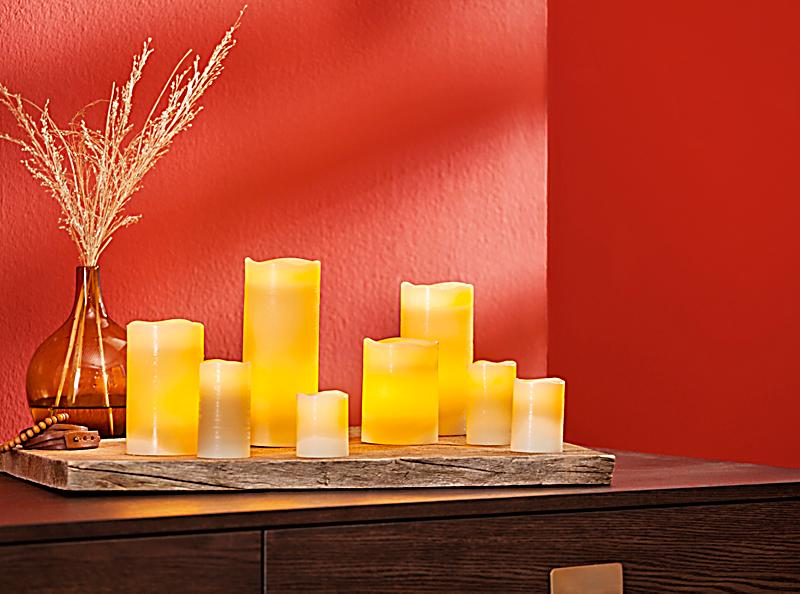 led echtwachskerzen 8er set jetzt bei bestellen. Black Bedroom Furniture Sets. Home Design Ideas