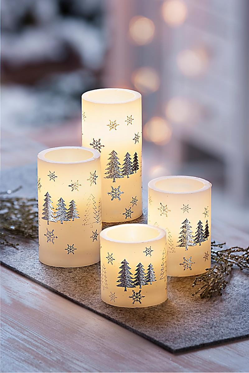 Led echtwachskerzen winterwald 4er set bestellen - Esszimmerstuhle 4er set ...
