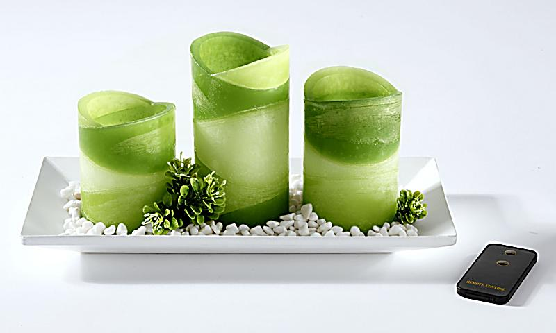 led kerzen set green life jetzt bei bestellen. Black Bedroom Furniture Sets. Home Design Ideas