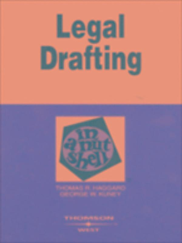 legal drafting Designed for upper-level survey legal drafting courses, this groundbreaking text explains drafting using a common vocabulary that applies to any legal document based on a fundamental rule structure, including statutes and other forms of public drafting as well as contracts and other forms of private drafting.