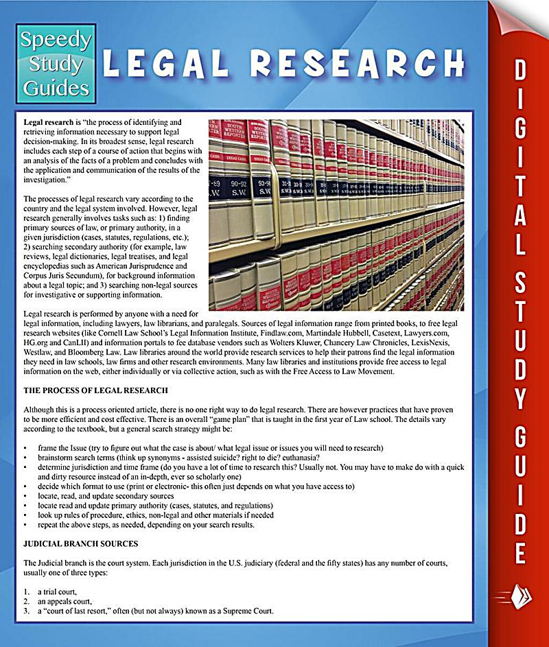 Legal Research and Writing 1 Midterm Study Guide ...