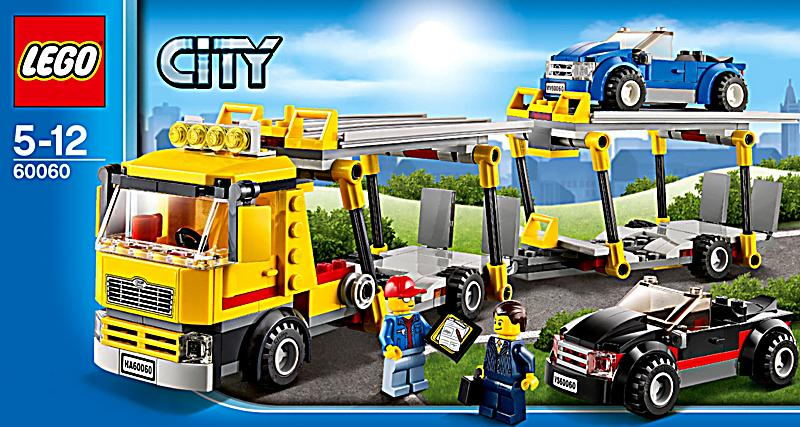 Lego City Monster Truck Transporter Instructions