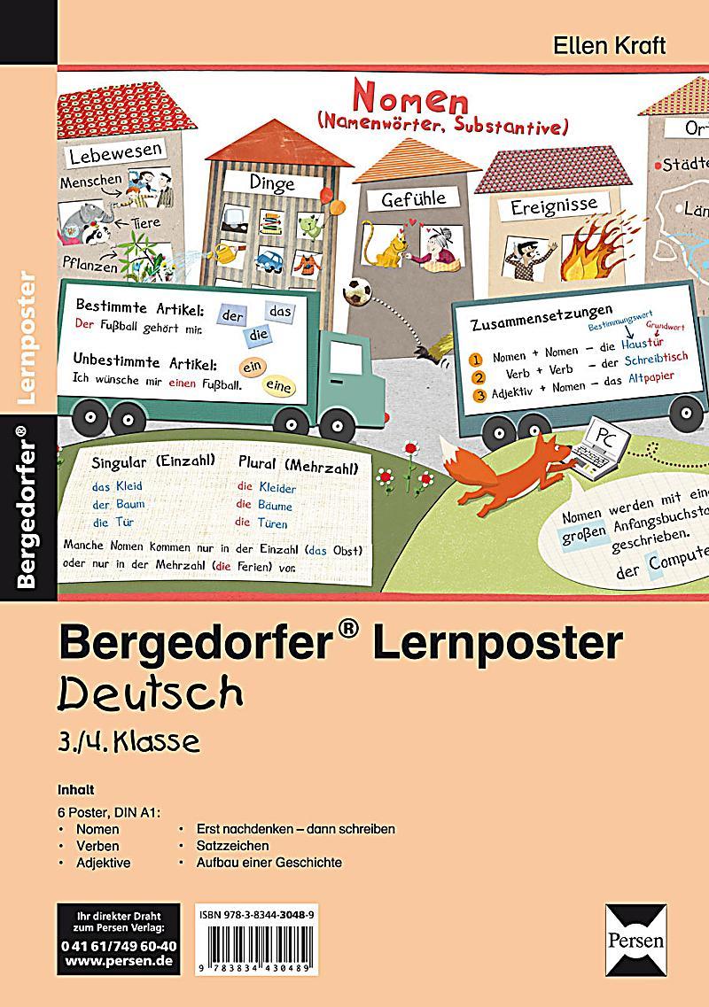 Lernposter Deutsch 3. 4.Klasse, 6 Poster fu00fcr den ...