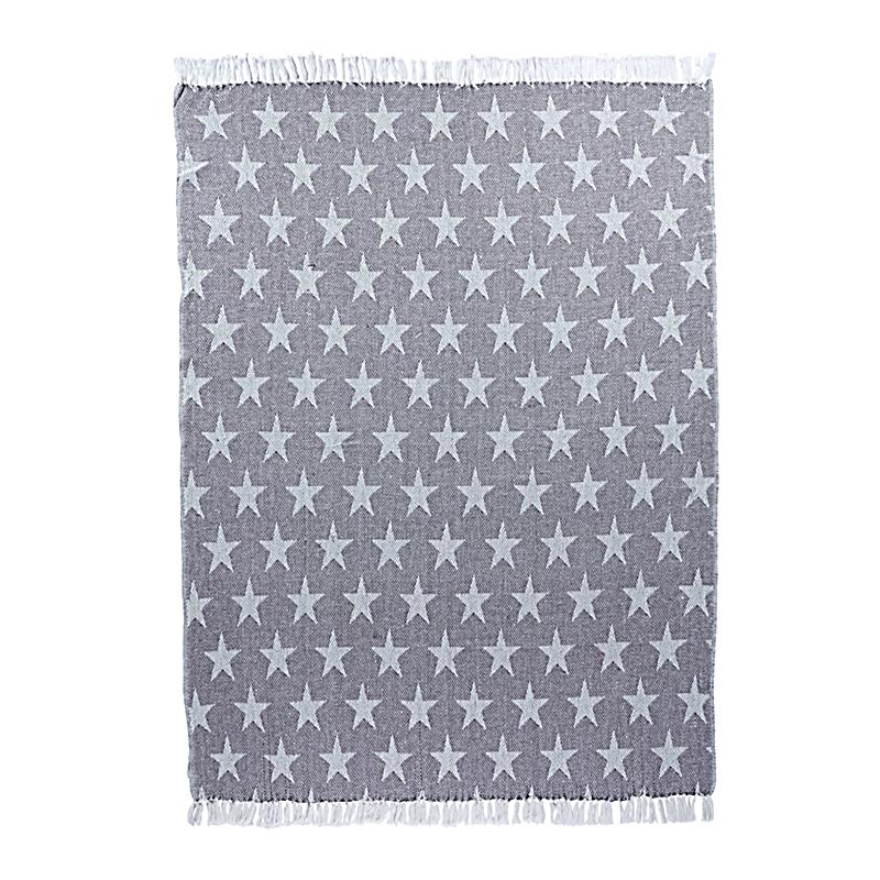 liamare by miavilla wohndecke white stars grau wei. Black Bedroom Furniture Sets. Home Design Ideas