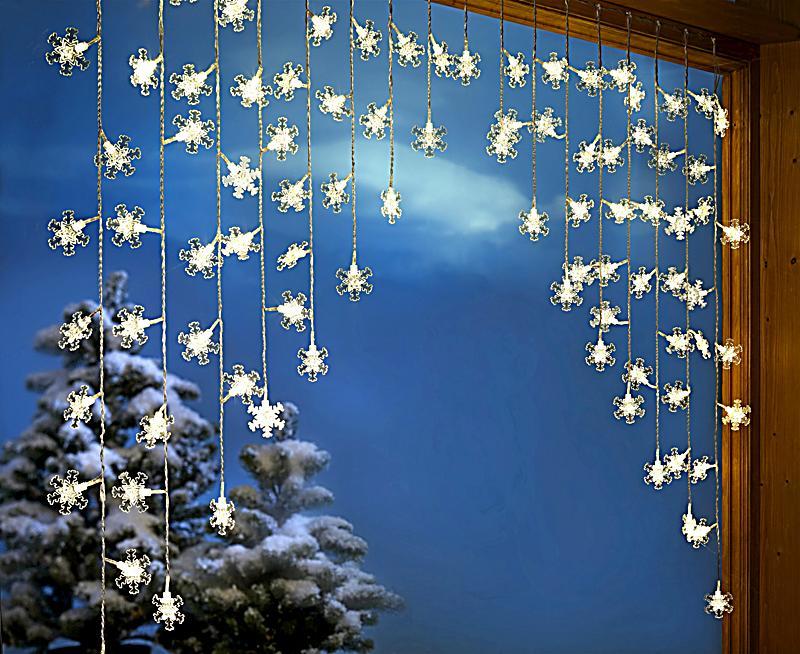 Lichtervorhang flockenzauber jetzt bei bestellen for Lichtervorhang weihnachten