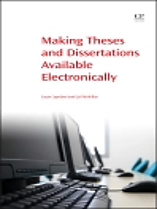 making theses and dissertations available electronically Theses, dissertations and projects why do i need to submit an electronic copy of my thesis or dissertation to idea and drexel university libraries.