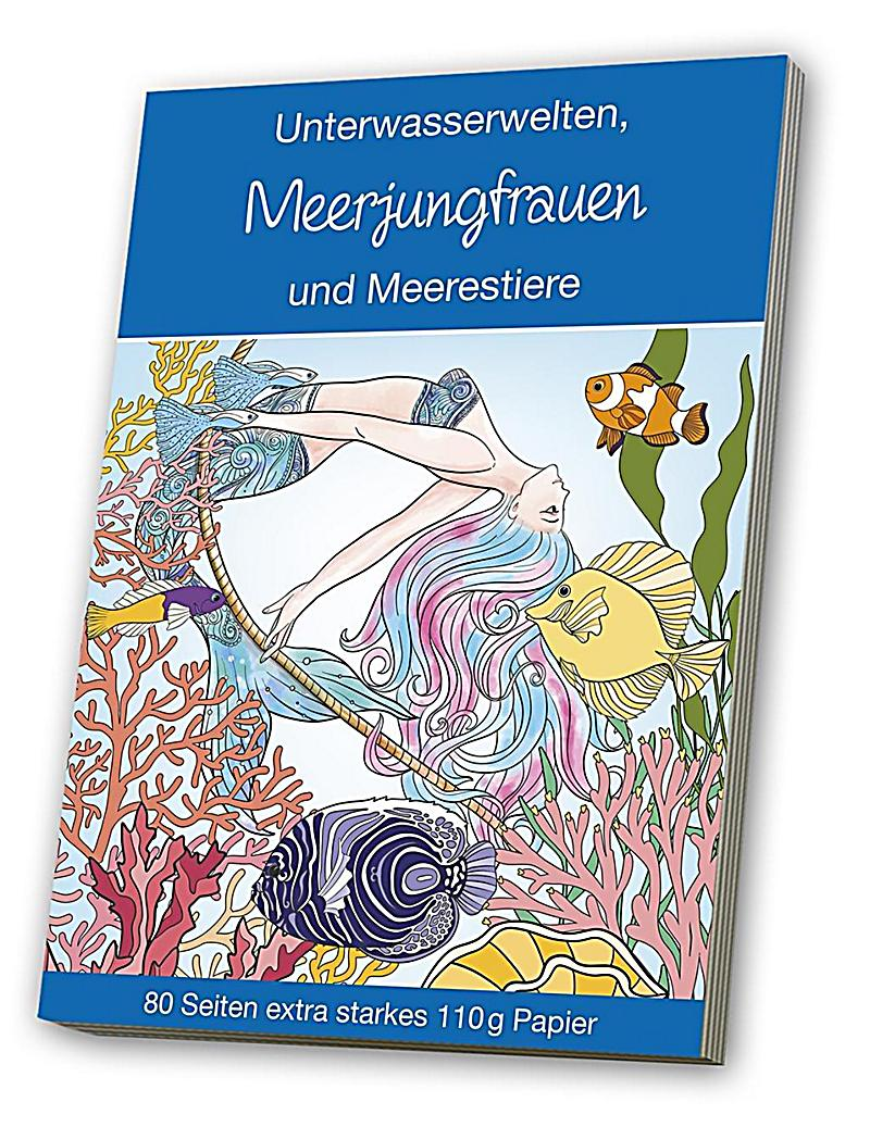 malbuch für erwachsene  meerjungfrauen  meerestiere buch