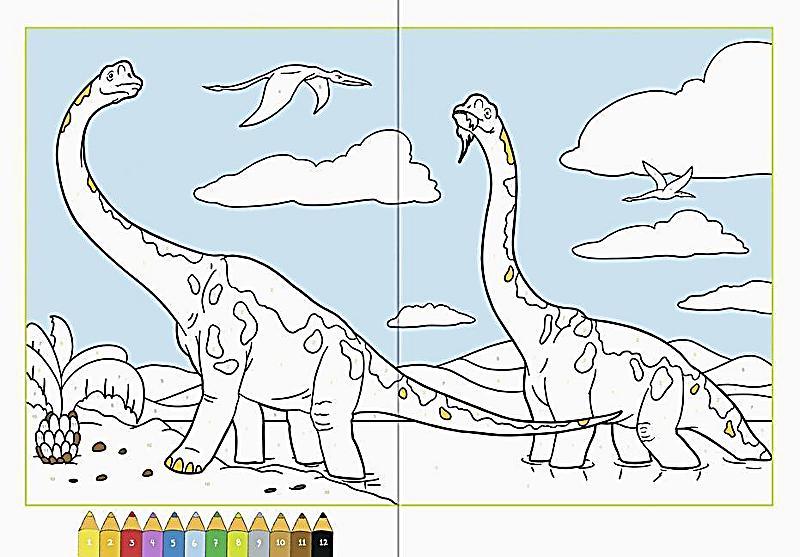 Fantastisch Farbe Nach Zahl Dinosaurier Galerie ...