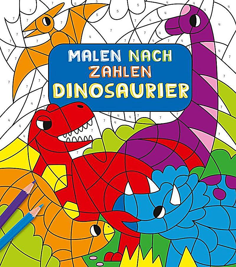 malen nach zahlen f r kinder dinosaurier buch. Black Bedroom Furniture Sets. Home Design Ideas