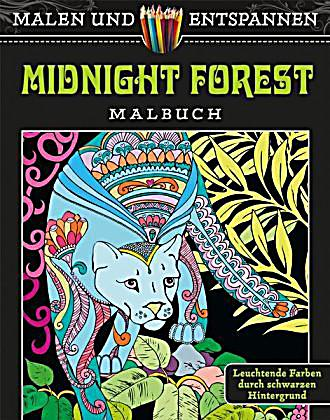 malen und entspannen midnight forest buch. Black Bedroom Furniture Sets. Home Design Ideas