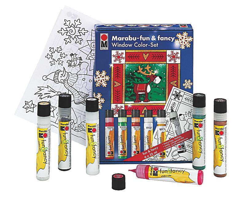 marabu window color set weihnachten bestellen. Black Bedroom Furniture Sets. Home Design Ideas