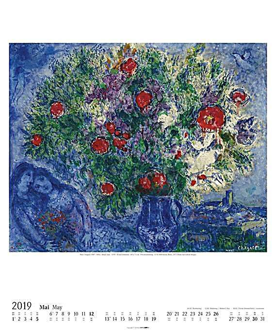 marc chagall 2019 kalender g nstig bei bestellen. Black Bedroom Furniture Sets. Home Design Ideas