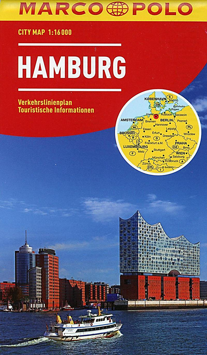 marco polo city map hamburg 1 hambourg buch. Black Bedroom Furniture Sets. Home Design Ideas