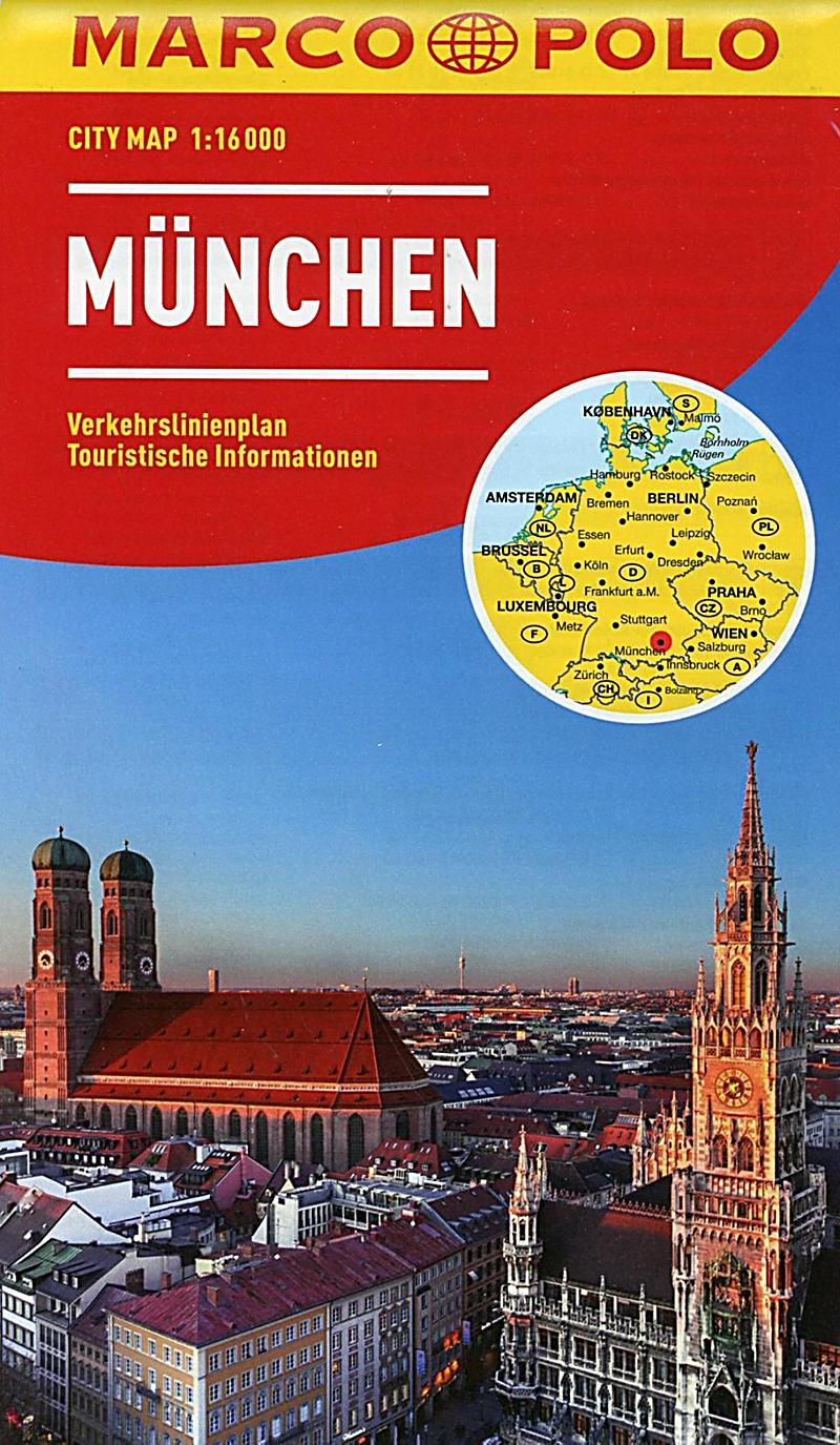 marco polo city map m nchen 1 munich buch. Black Bedroom Furniture Sets. Home Design Ideas