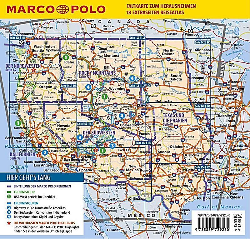 marco polo reisef hrer usa west buch portofrei bei. Black Bedroom Furniture Sets. Home Design Ideas