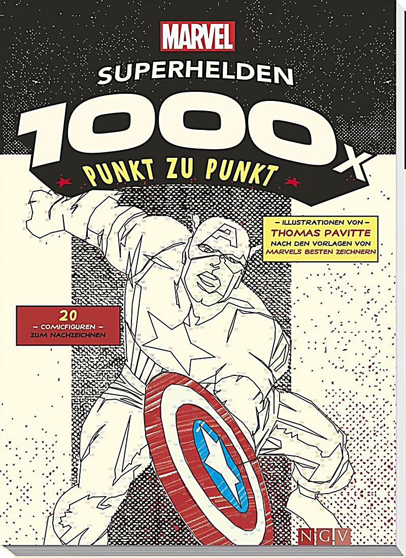 MARVEL: Superhelden - 1000 x Punkt zu Punkt, m. Poster Buch