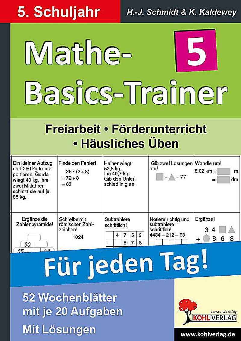 mathe basics trainer f r jeden tag 5 schuljahr buch versandkostenfrei. Black Bedroom Furniture Sets. Home Design Ideas