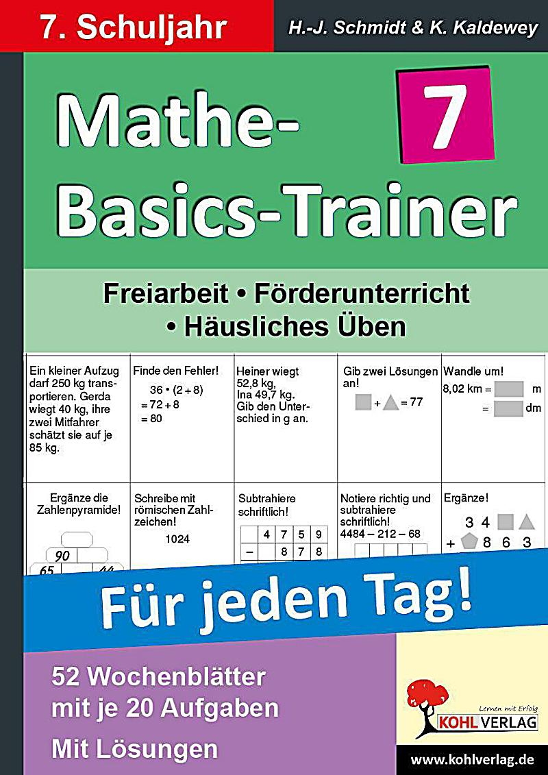 mathe basics trainer f r jeden tag 7 schuljahr buch bestellen. Black Bedroom Furniture Sets. Home Design Ideas