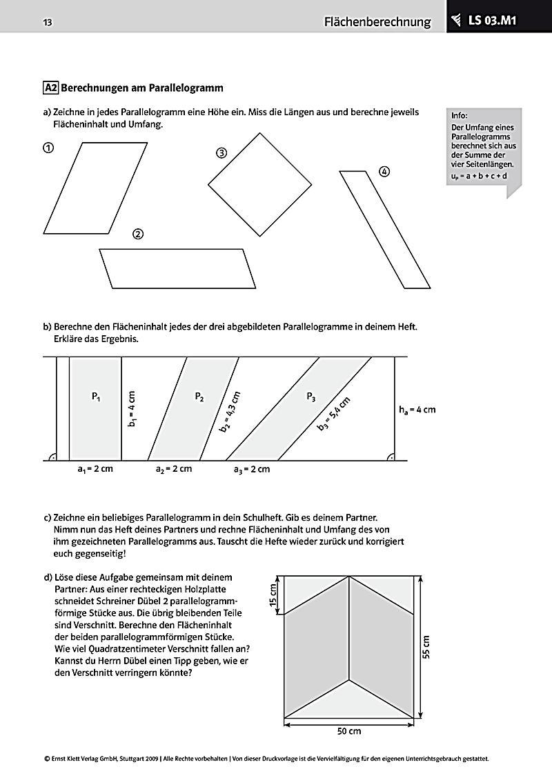 Mathematik 7-10, Flächenberechnungen Körperberechnungen ...