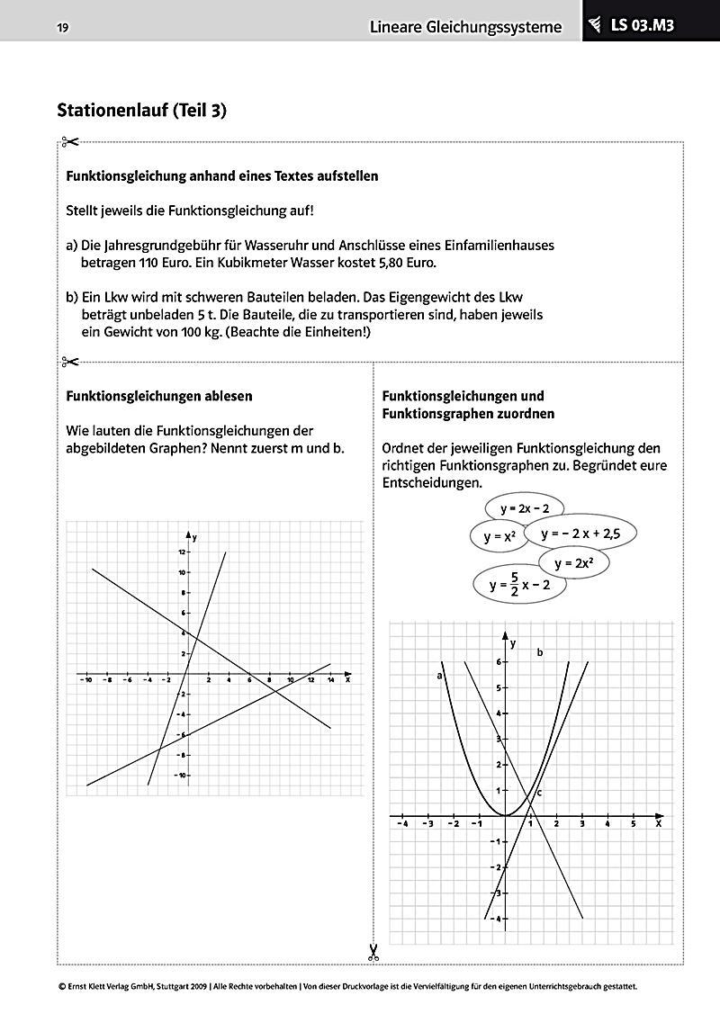 Mathematik 9 10, Lineare Gleichungssysteme Modellierungsaufgaben ...