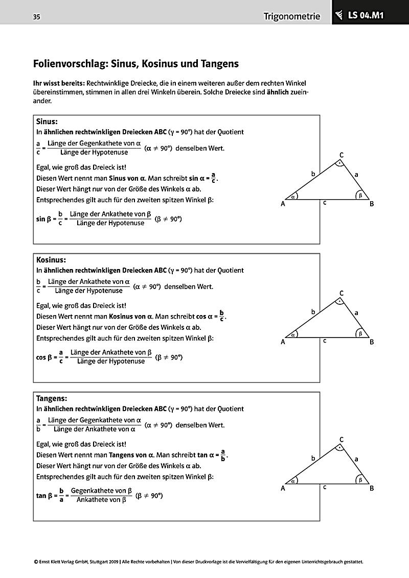 Mathematik 9 10, Strahlensätze Trigonometrie Buch portofrei