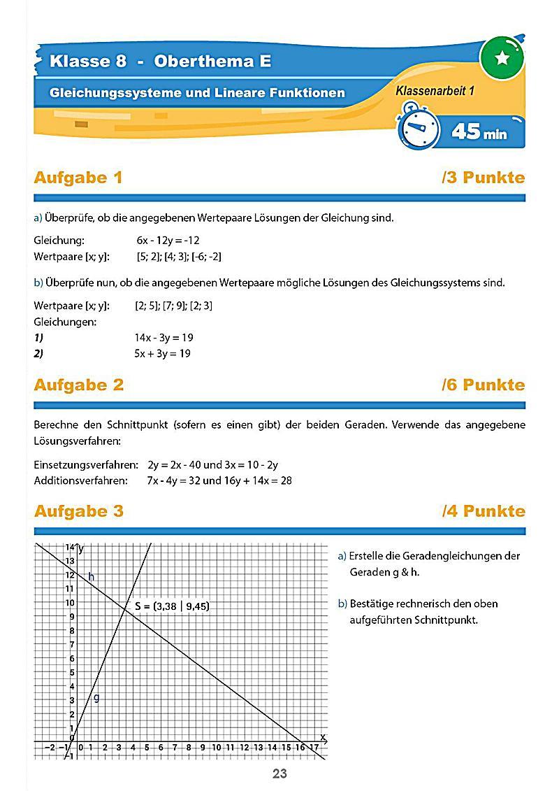 mathematik klassenarbeiten klasse 8 buch bestellen