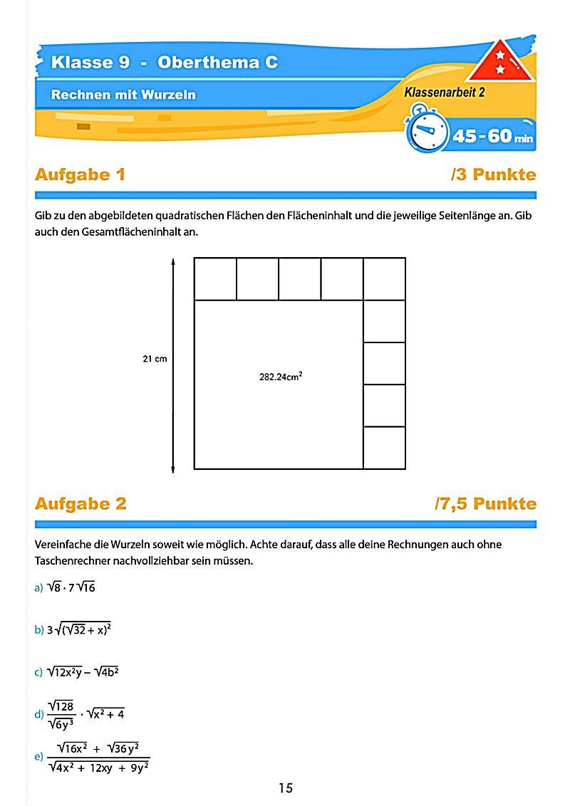 mathematik klassenarbeiten klasse 9 buch bestellen