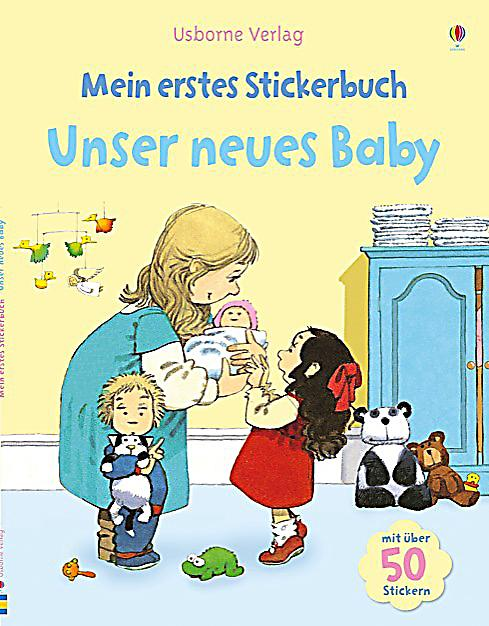 mein erstes stickerbuch unser neues baby buch. Black Bedroom Furniture Sets. Home Design Ideas