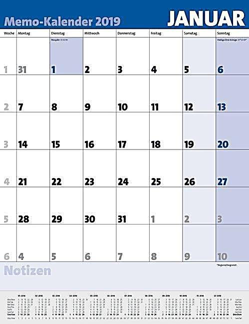 memo kalender 2019 kalender g nstig bei. Black Bedroom Furniture Sets. Home Design Ideas
