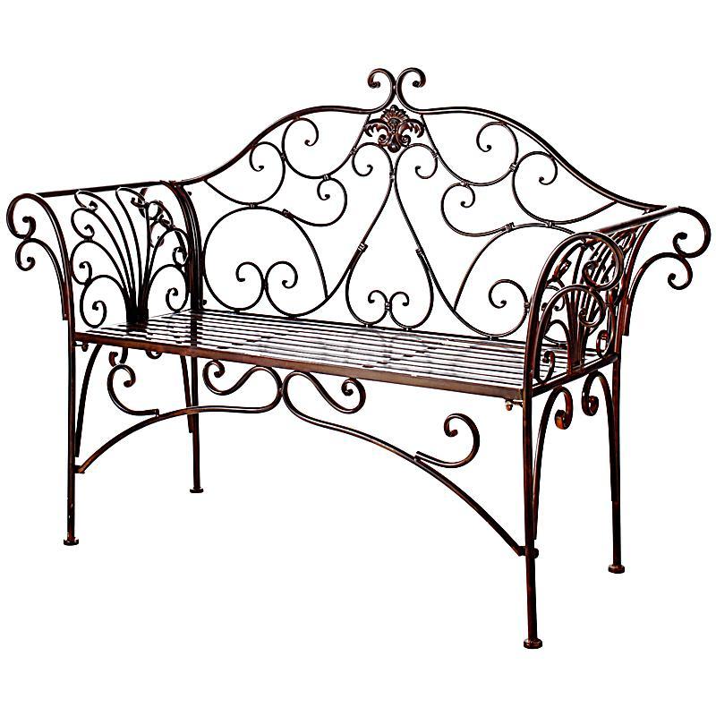 metall gartenbank romantik farbe braun bestellen. Black Bedroom Furniture Sets. Home Design Ideas