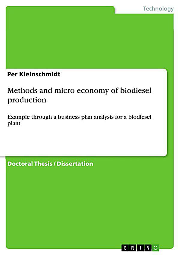 Biodiesel business plan pdf