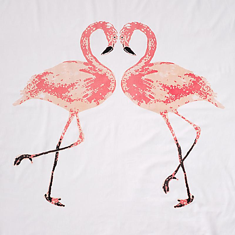 miavilla bettw sche flamingo wei rosa 135 x 200 cm. Black Bedroom Furniture Sets. Home Design Ideas