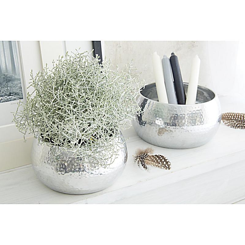 miavilla dekoschalen set 2 tlg bowl silberfarben. Black Bedroom Furniture Sets. Home Design Ideas