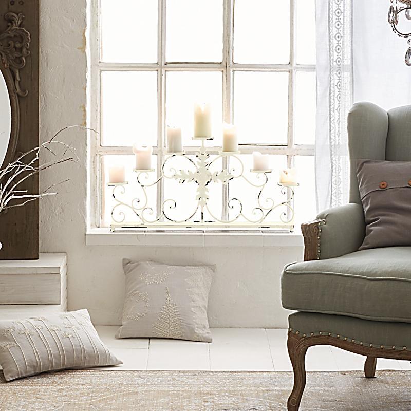 miavilla kerzenst nder sadara wei bestellen. Black Bedroom Furniture Sets. Home Design Ideas